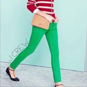 J. Crew matchstick skinny jeans green 24